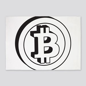 bitcoin2 5'x7'Area Rug
