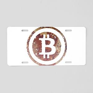 bitcoin6 Aluminum License Plate