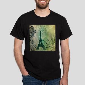 damask modern paris eiffel tower art T-Shirt