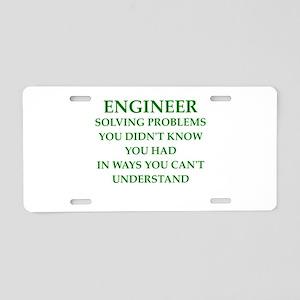 ENGINEER1 Aluminum License Plate