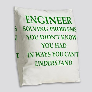 ENGINEER1 Burlap Throw Pillow