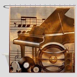 Old And New Music Shower Curtain