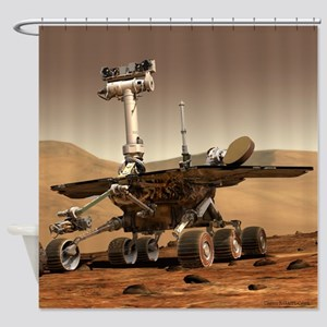 Mars Exploration Rover Shower Curtain
