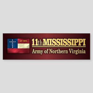 11th Mississippi Infantry (BH2) Bumper Sticker