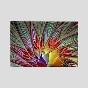 Fractal Bird of Paradise Wide Rectangle Magnet
