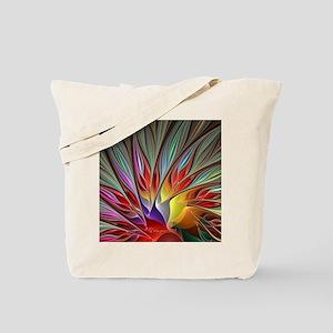Fractal Bird of Paradise Wide Tote Bag