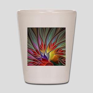 Fractal Bird of Paradise Wide Shot Glass