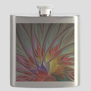 Fractal Bird of Paradise Wide Flask