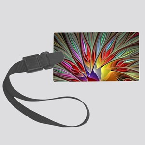 Fractal Bird of Paradise Wide Large Luggage Tag