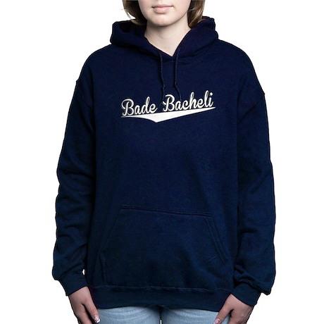 Bade Bacheli, Retro, Women's Hooded Sweatshirt