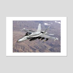 F-18 Hornet  Mini Poster Print