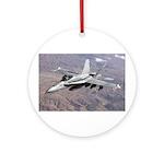 F-18 Hornet Ornament (Round)