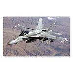 F-18 Hornet Rectangle Sticker