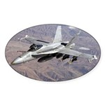 F-18 Hornet Oval Sticker