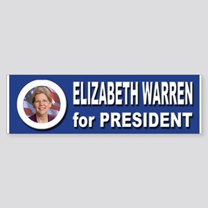 Elizabeth Warren for President 20 Sticker (Bumper)