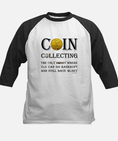 Coin Collecting Kids Baseball Jersey