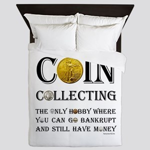 Coin Collecting Queen Duvet