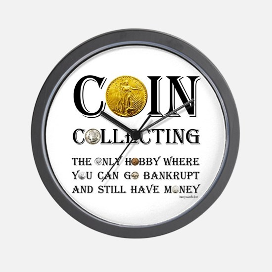 Coin Collecting Wall Clock