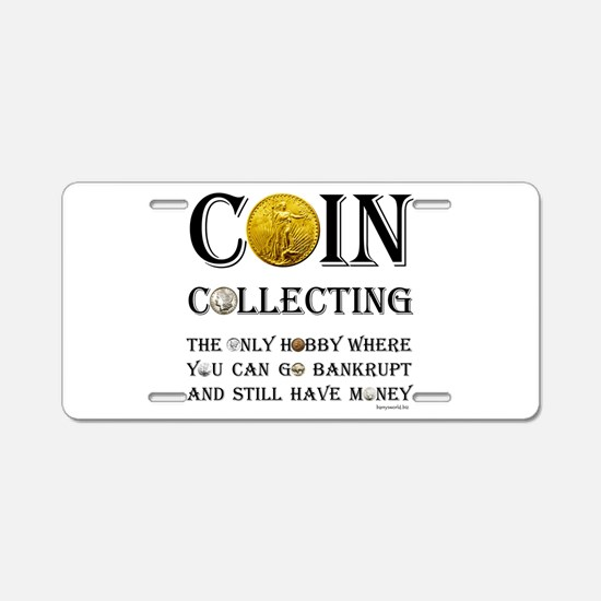 Coin Collecting Aluminum License Plate