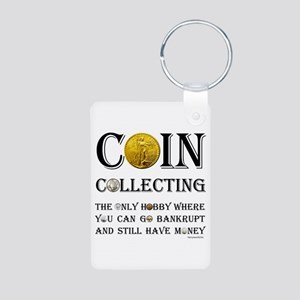 Coin Collecting Aluminum Photo Keychain