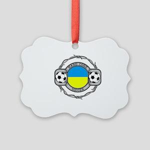 Ukraine Soccer Picture Ornament
