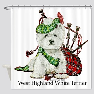 Highland Westie Shower Curtain