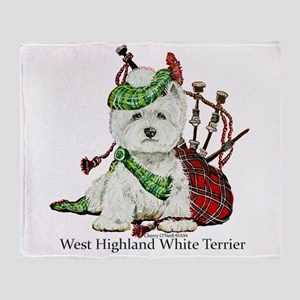 Highland Westie Throw Blanket