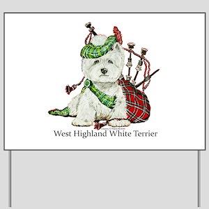 Highland Westie Yard Sign