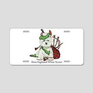 Highland Westie Aluminum License Plate