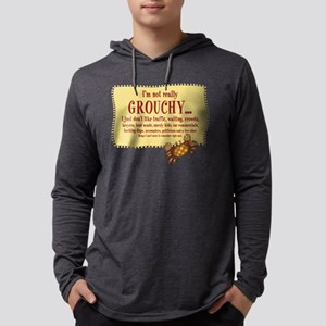 Grouchy Crab Mens Hooded Shirt