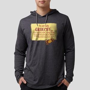 Grouchy Crab Mens Hooded Shirt