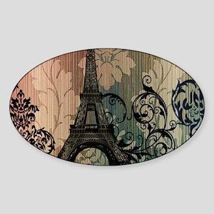 vintage damask modern paris eiffel tower Sticker