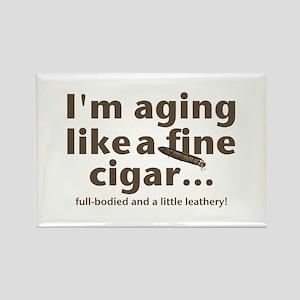 Aging Like Fine Cigars Rectangle Magnet
