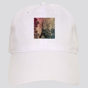 vintage damask modern paris eiffel tower Hat