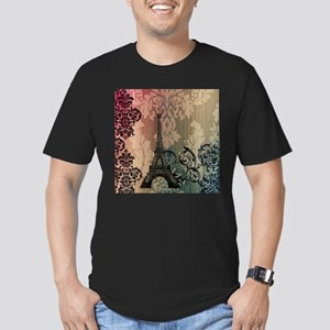 vintage damask modern paris eiffel tower T-Shirt