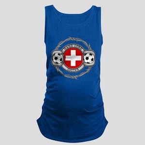 Switzerland Soccer Maternity Tank Top