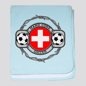 Switzerland Soccer baby blanket