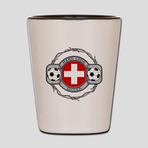 Switzerland Soccer Shot Glass