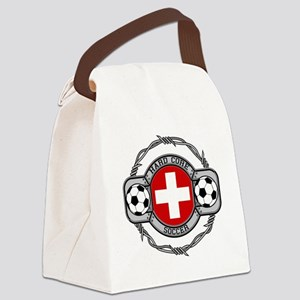 Switzerland Soccer Canvas Lunch Bag