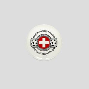 Switzerland Soccer Mini Button (10 pack)