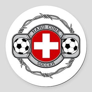Switzerland Soccer Round Car Magnet