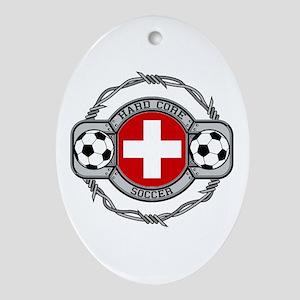 Switzerland Soccer Ornament (Oval)