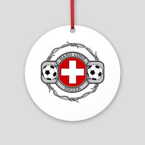 Switzerland Soccer Ornament (Round)