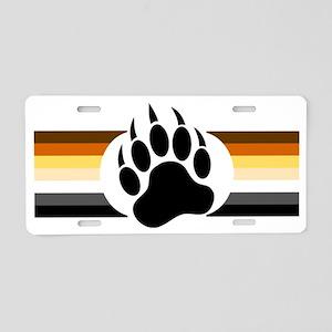 Gay Bear Pride Stripes Bear Aluminum License Plate