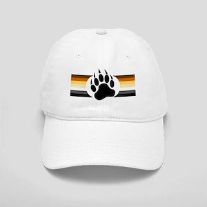 Gay Bear Pride Stripes Bear Paw Baseball Cap
