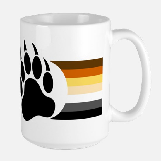 Gay Bear Pride Stripes Bear Paw Mugs