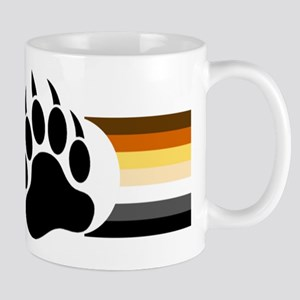 Gay Bear Pride Stripes Bear Paw Mugs