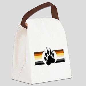 Gay Bear Pride Stripes Bear Paw Canvas Lunch Bag