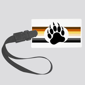 Gay Bear Pride Stripes Bear Paw Luggage Tag