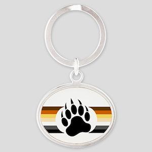 Gay Bear Pride Stripes Bear Paw Keychains